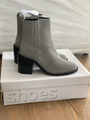 Topshop Ankle Boots grey-black