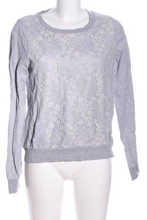 Topshop Sweatshirt hellgrau Blumenmuster Casual-Look