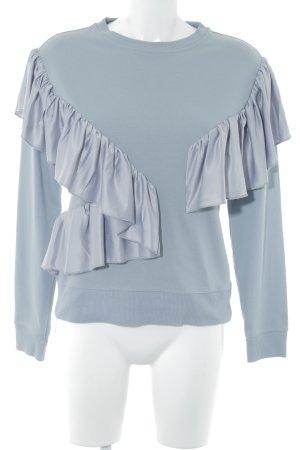 Topshop Sweatshirt blassblau Casual-Look