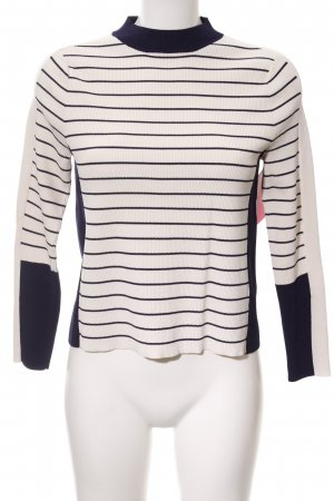 Topshop Sweatshirt creme-dunkelblau Streifenmuster Casual-Look