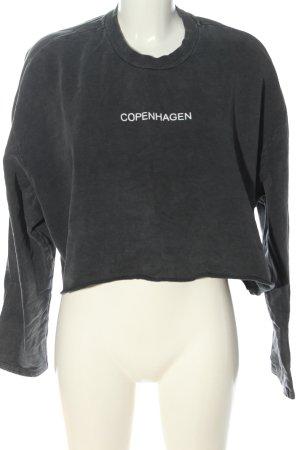 Topshop Sweatshirt hellgrau Schriftzug gedruckt Casual-Look