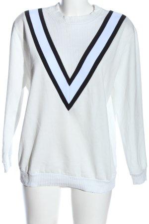 Topshop Sweatshirt weiß-schwarz Casual-Look