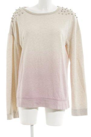 Topshop Sweatshirt wollweiß-pink Casual-Look