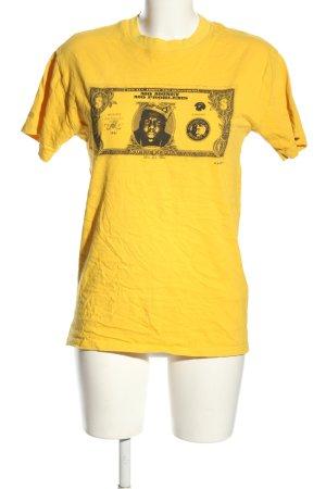 Topshop T-Shirt blassgelb Motivdruck Casual-Look