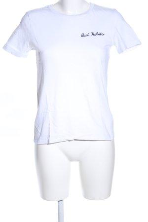 Topshop T-shirt blanc lettrage brodé style décontracté