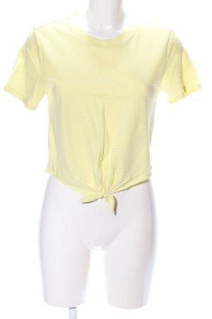 Topshop Camiseta amarillo pálido look casual