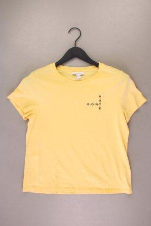 Topshop T-Shirt Größe 44 Kurzarm gelb aus Baumwolle