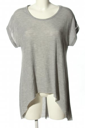 Topshop T-Shirt hellgrau meliert Casual-Look