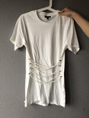 Topshop T-shirt mit Schnürung 36