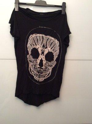Topshop t Shirt schwarz toten kopf