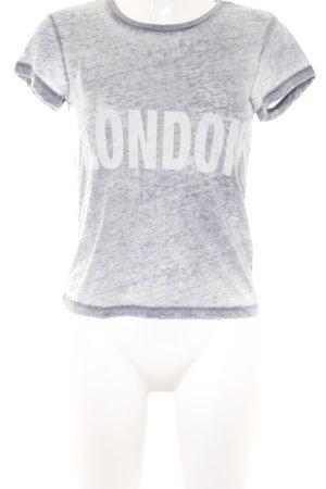 Topshop T-Shirt weiß-hellgrau Schriftzug gedruckt Casual-Look