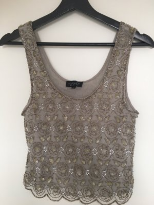 Topshop Strappy Top silver-colored-light grey