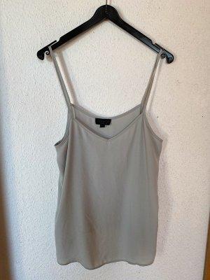Topshop Top Singlet Grau Hellblau Graublau 36 38 S M Basic Shirt Trägerhemd Asos