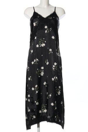 Topshop Trägerkleid schwarz-weiß Blumenmuster Casual-Look