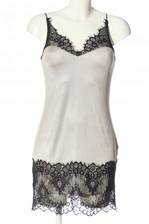 Topshop Trägerkleid wollweiß-schwarz Elegant