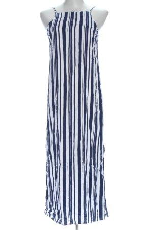 Topshop Trägerkleid blau-weiß Allover-Druck Casual-Look