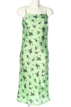 Topshop Trägerkleid grün-schwarz Allover-Druck Casual-Look