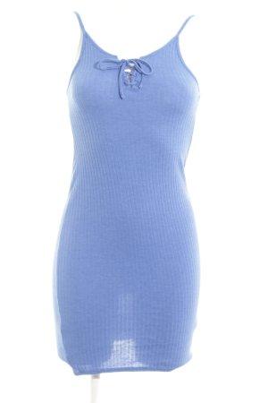 Topshop Trägerkleid blau Allover-Druck Casual-Look