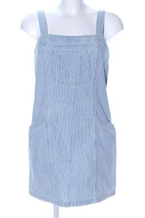 Topshop Trägerkleid weiß-blau Streifenmuster Casual-Look