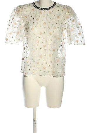 Topshop Transparenz-Bluse Blumenmuster Casual-Look