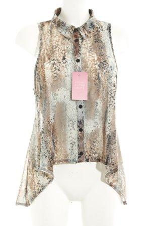 Topshop Transparenz-Bluse mehrfarbig Casual-Look