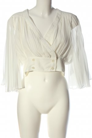 Topshop Transparenz-Bluse weiß extravaganter Stil