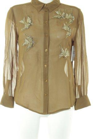 Topshop Transparenz-Bluse mehrfarbig Elegant