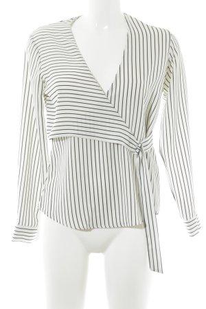 Topshop Transparenz-Bluse weiß-schwarz Streifenmuster Elegant
