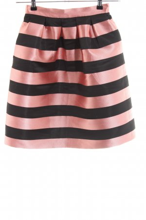 Topshop Tulip Skirt pink-black striped pattern casual look