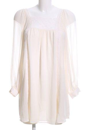 Topshop Blusa de túnica crema look casual