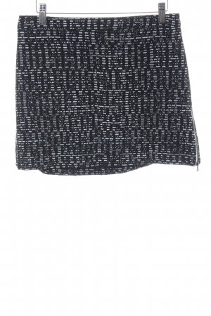 Topshop Tweed Skirt black-white weave pattern casual look