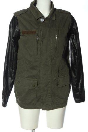 Topshop Übergangsjacke khaki-schwarz Casual-Look