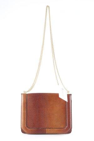 Topshop Umhängetasche cognac Animalmuster Animal-Look