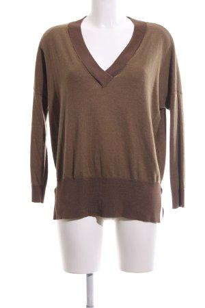 Topshop V-Ausschnitt-Pullover braun Casual-Look