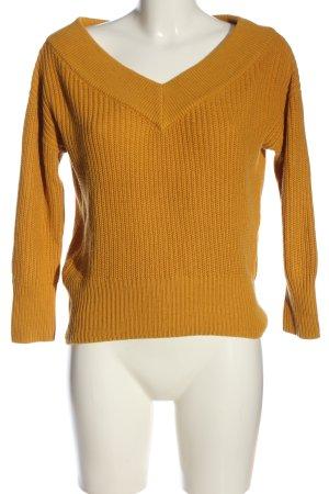 Topshop V-Ausschnitt-Pullover hellorange Casual-Look