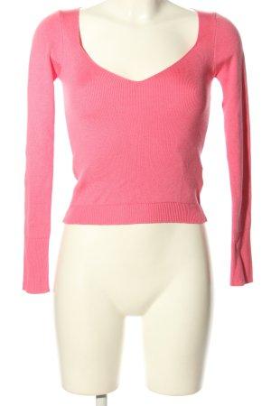 Topshop V-Ausschnitt-Pullover pink Casual-Look