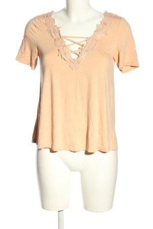 Topshop V-Ausschnitt-Shirt nude Casual-Look
