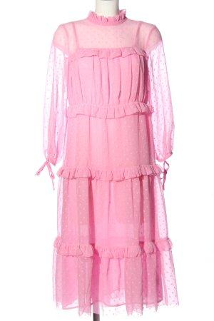 Topshop Volantkleid pink Punktemuster Party-Look