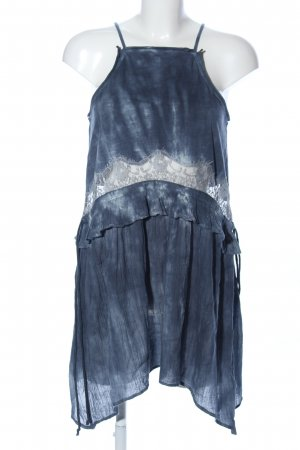 Topshop Volanttop blau Farbverlauf Party-Look