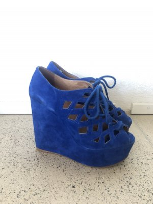Topshop Wedge Sandals blue