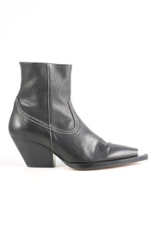 Topshop Western-Stiefeletten schwarz Casual-Look