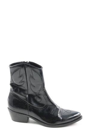 Topshop Westernstiefel schwarz abstraktes Muster Casual-Look