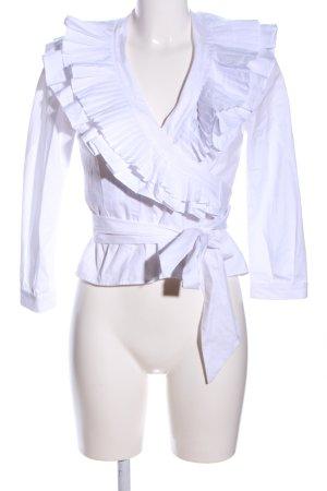 Topshop Wickel-Bluse weiß Elegant