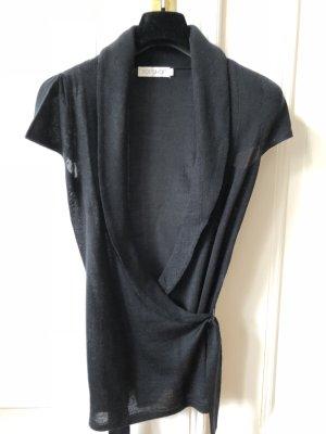 Topshop Wickel-Strickjacke mit Wollanteil in schwarz in Größe 36 (UK 8)