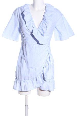 Topshop Wickelkleid blau-weiß Streifenmuster Casual-Look
