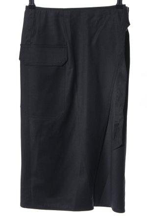 Topshop Falda cruzada negro look casual