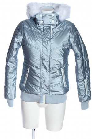 Topshop Winterjacke blau Casual-Look