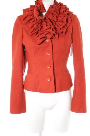 Topshop Chaqueta de lana rojo ladrillo Lana