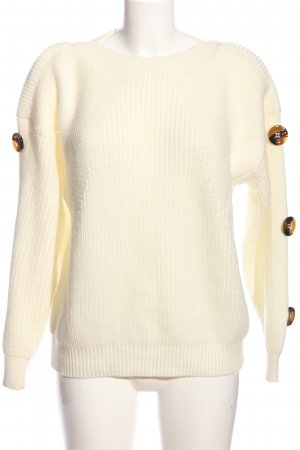 Topshop Strickpullover creme Casual-Look