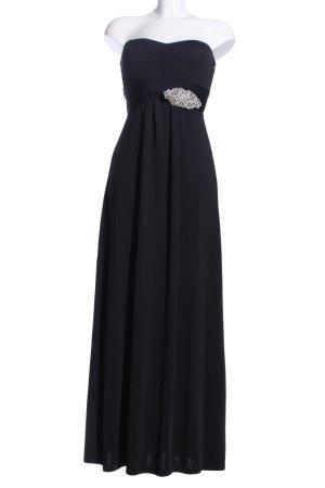 Top Studio schulterfreies Kleid schwarz-silberfarben Elegant